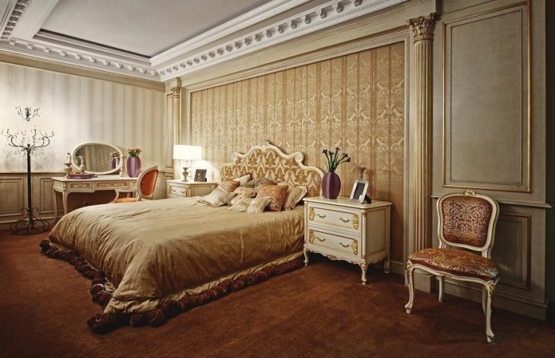 Спальня в стиле рококо: фото
