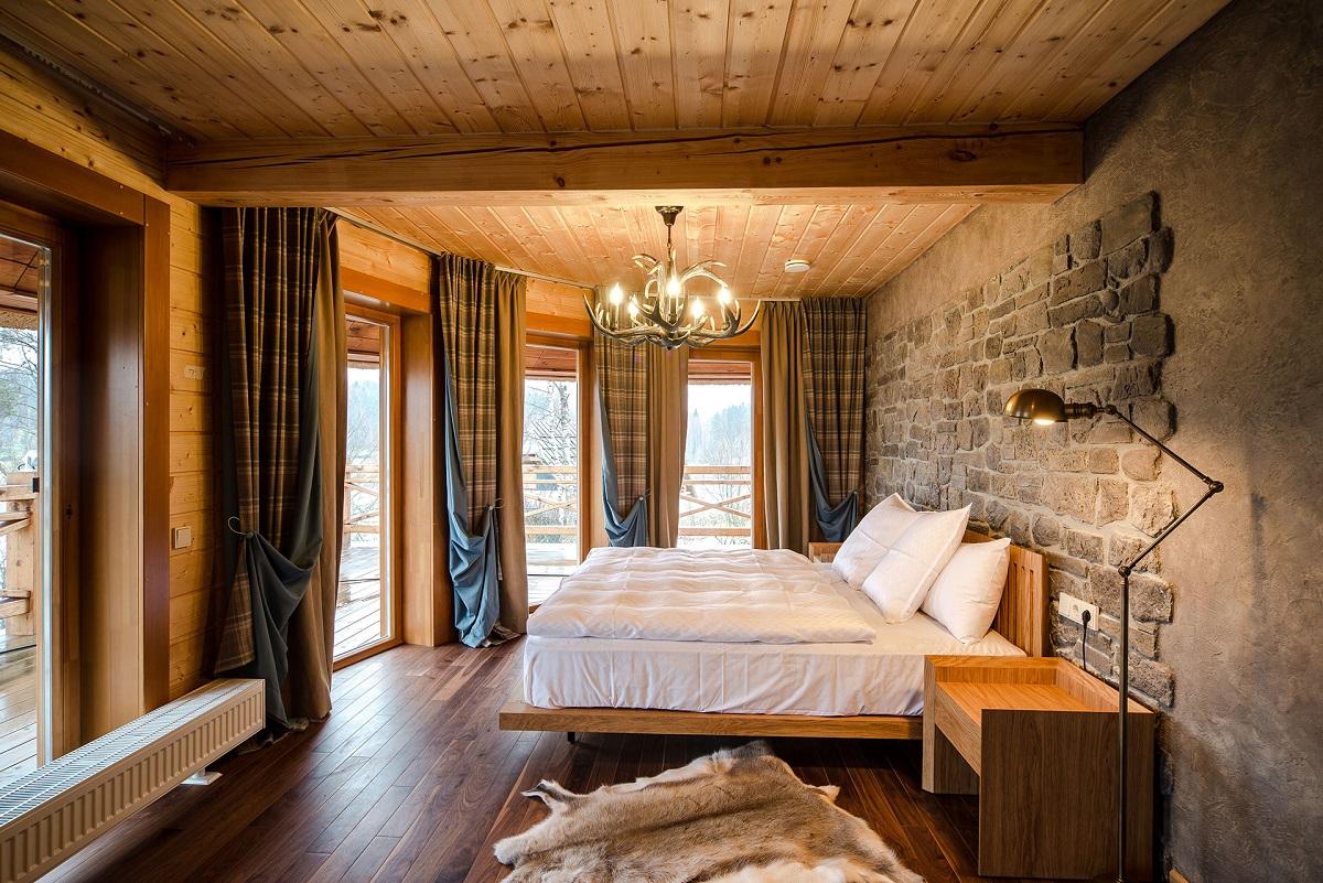 этом стиль шале в спальне фото выражение говорит конь