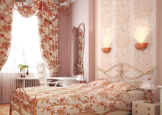 Обои прованс для спальни: фото идей гармоничного дизайна + правила выбора