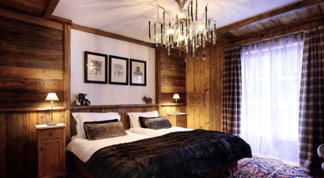 Уютный и простой интерьер спальни в стиле шале: секреты оформления + фото
