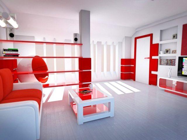 Использование пассивного, активного и нейтрального цвета в интерьере