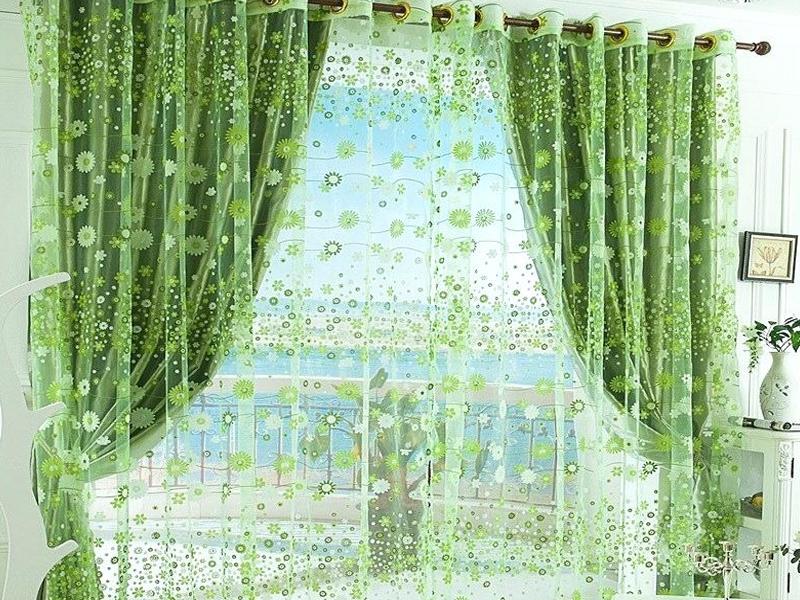 Зеленые шторы в интерьере спальни: как выбрать, сочетание цветов, фото