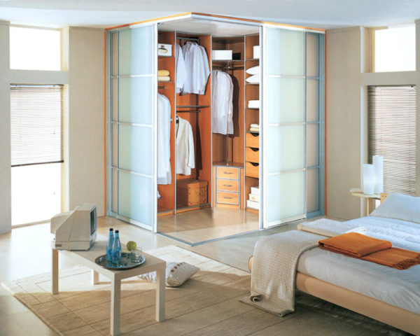 Спальня с гардеробной: современные и функциональные идеи дизайна + фото