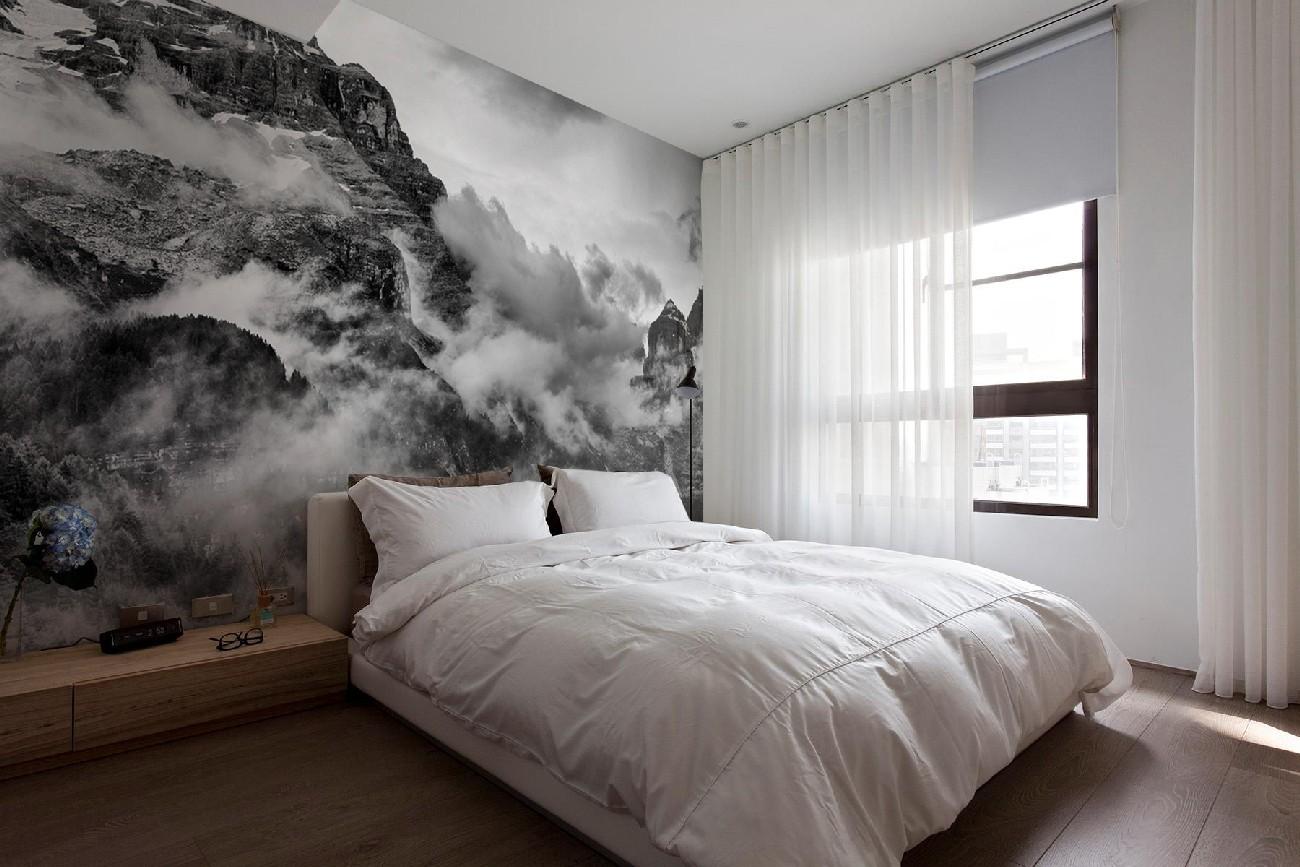 фотообои для небольшой спальни дольникова