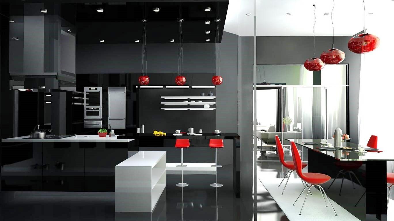 Кухня в стиле хай-тек: дизайн интерьера, фото, потолок, мебель