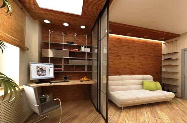 Дизайн спальни с рабочей зоной: варианты удачного оформления + фото