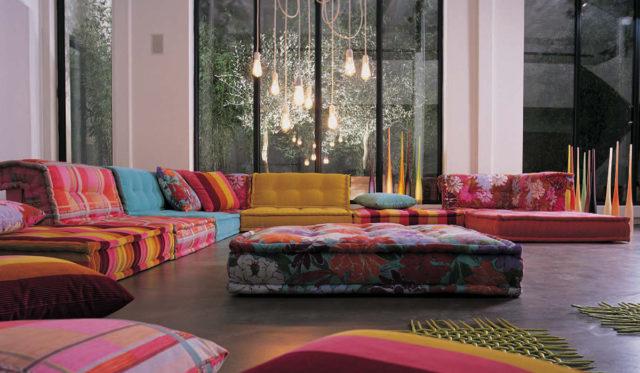 Радужный интерьер спальни в стиле бохо – выбор творческих натур