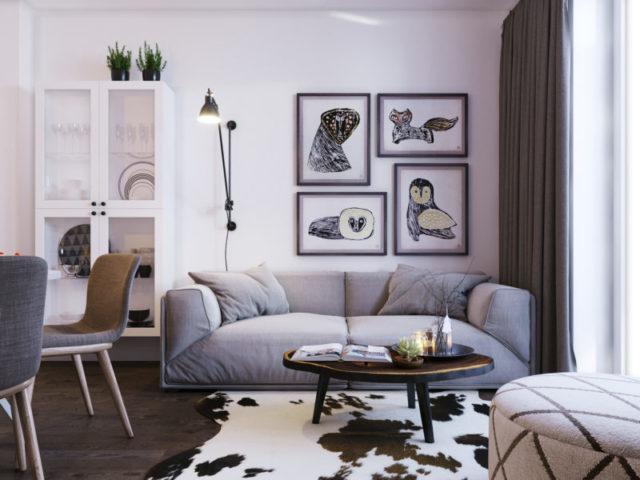 Кухня, совмещенная с гостиной в скандинавском стиле: фото необычных решений