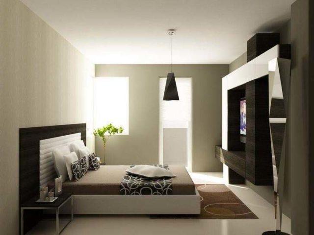 Креативный дизайн спальни в стиле хай-тек: строгий и практичный интерьер