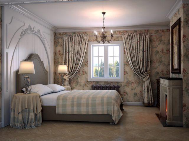 Шторы в спальню в стиле прованс: фото + стильные идеи и правила сочетания