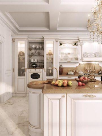 Дизайн кухни в стиле барокко: королевский шик и изысканная роскошь