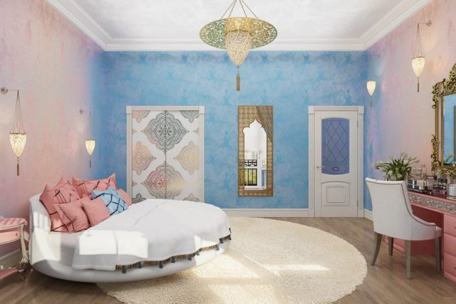 Необычный и яркий интерьер спальни в стиле эклектика для смелых: оформление + фото