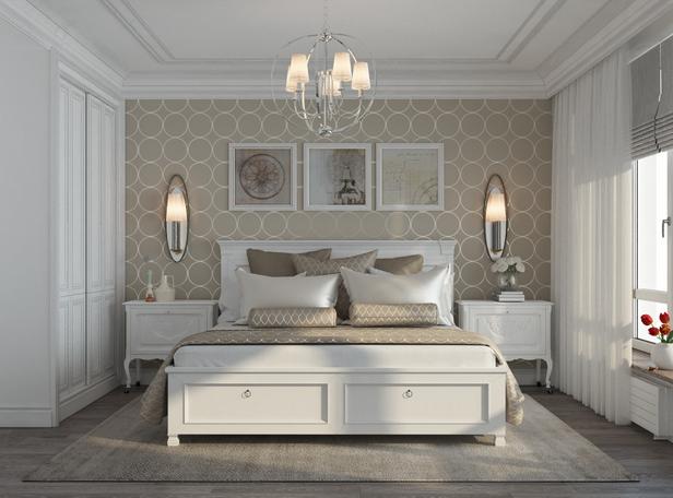 макияжа спальня в стиле неоклассика фото интерьер енотовидная