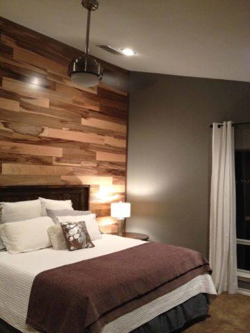 Ламинат на стене в интерьере спальни: секреты монтажа + фото лучших вариантов дизайна