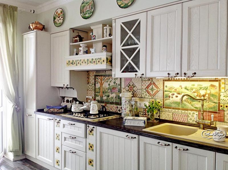 Плитка пэчворк для кухни: на фартук, на пол
