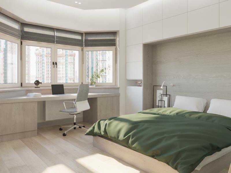 Спальня-кабинет с рабочим местом: фото, дизайн
