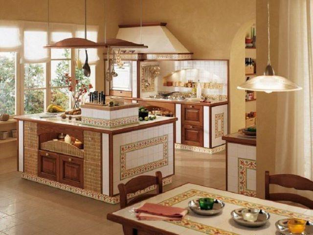 Дизайн кухни в греческом стиле – свежесть и уют в интерьере