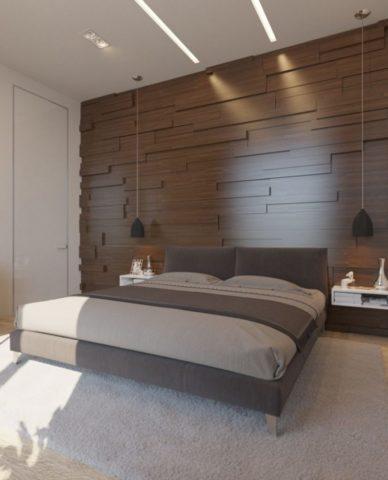 Панели на стену в спальню: мягкие, 3D, деревянные + лучшие варианты дезайна