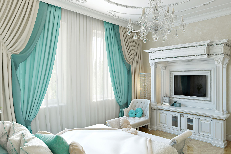 Телевизор в спальне на стене, на потолке, под потолком: фото интерьера