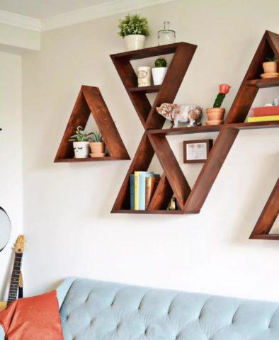 Полки в спальне: фото интересных дизайнов и способы создания своими руками