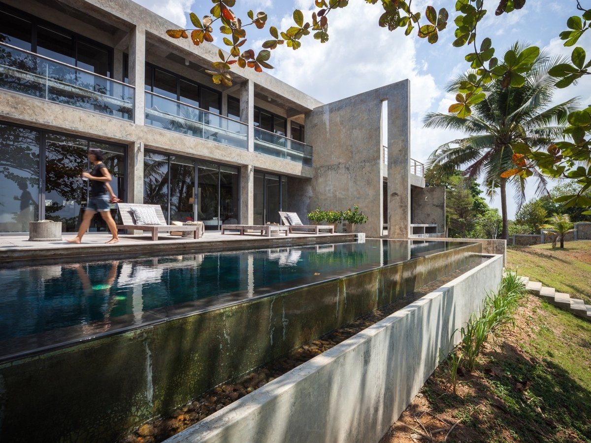 Тайская бетонная вилл