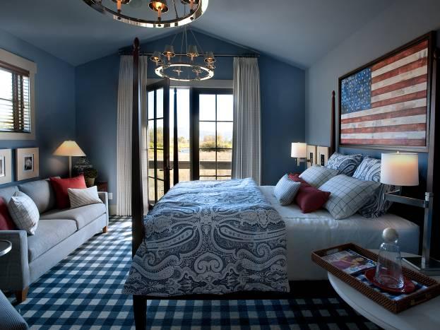 Спальня в синих тонах: способы создания уникального дизайна + фото удачных интерьеров