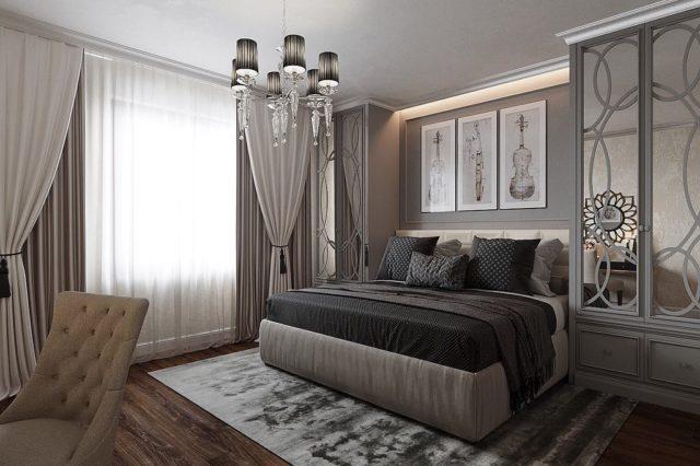 Спальня в стиле неоклассика: сочетание изысканной элегантности и скромности