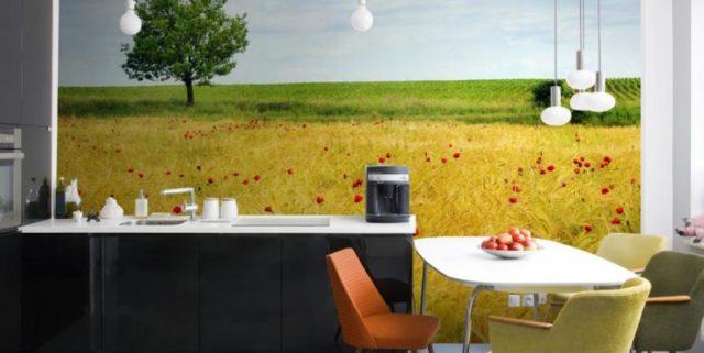 Фотообои для кухни: идеи оригинального и неповторимого интерьера + фото