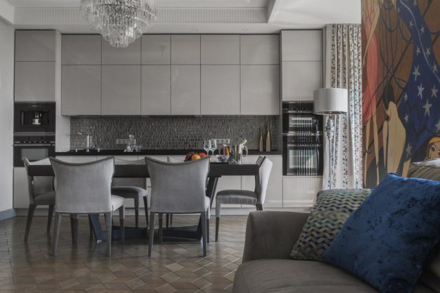 Шикарный дизайн кухни в стиле арт-деко: эксклюзивные идеи + советы дизайнеров