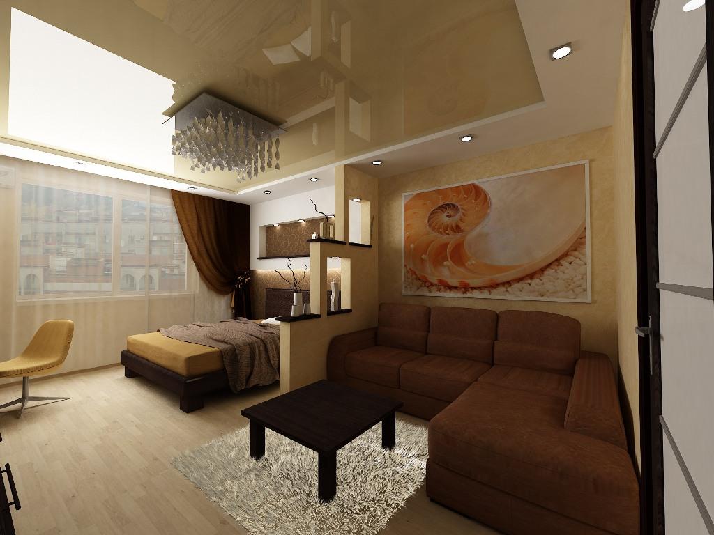 Как разделить спальню и гостинную