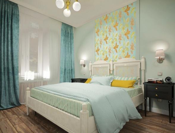 Голубая спальня: советы по созданию неповторимого дизайна + фото лучших интерьеров