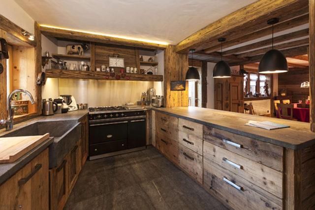 Дизайн кухни в стиле шале: тонкости оформления современного и стильного интерьера
