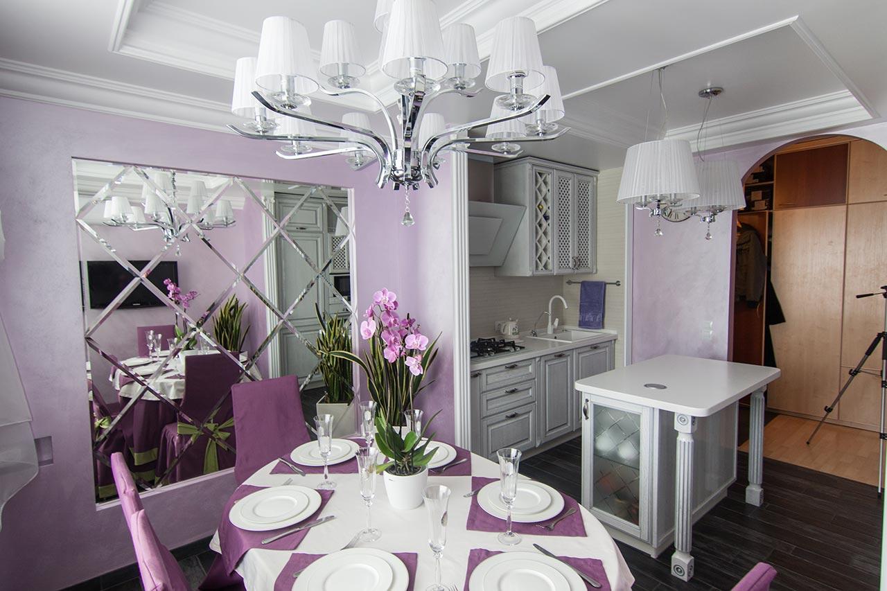 Кухни фиолетового цвета с белым фото нарезка