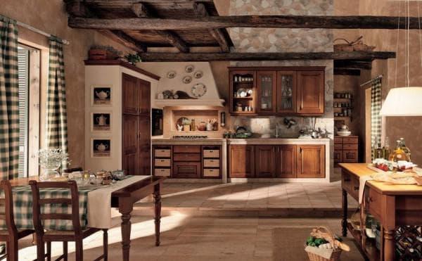 Кухня в рустикальном стиле – грубая природная красота и деревенский уют