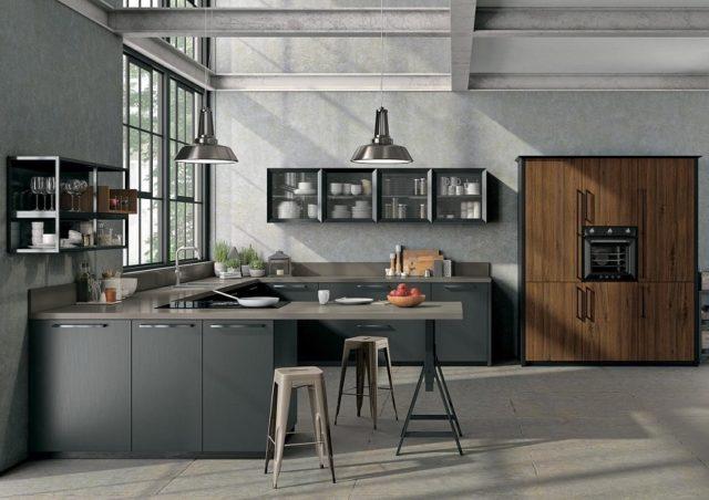 Уютный дизайн кухни в стиле лофт: неординарные решения + реальные фото