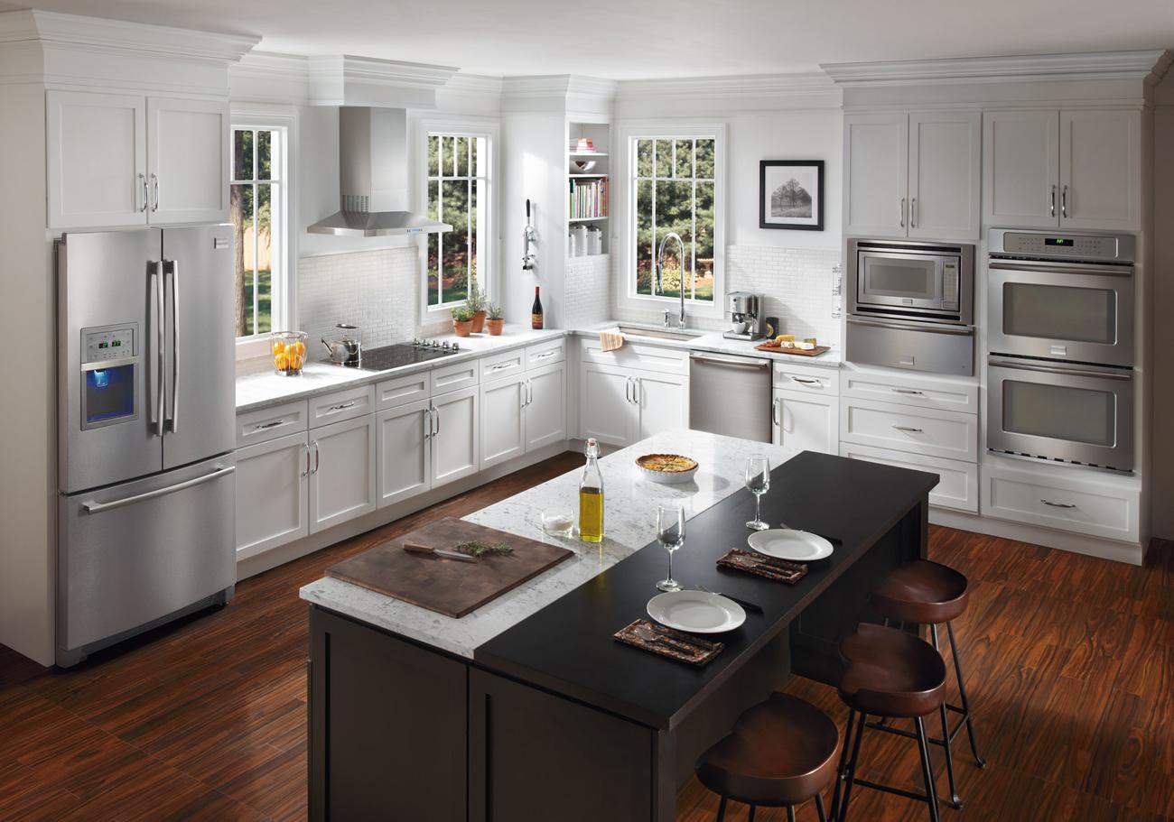 Кухня в американском стиле в квартире и в доме: фото + интерьер