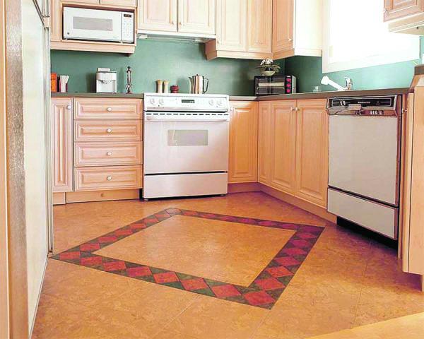 Линолеум с рисунком под плитку для кухни: правила идеального выбора + стильные идеи