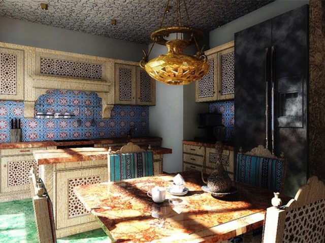 Марокканский стиль в интерьере кухни - атмосфера восточных сказок