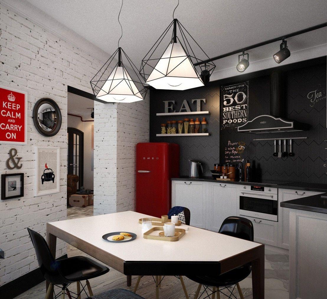 Маленькая кухня в стиле лофт своими руками в квартире: фото