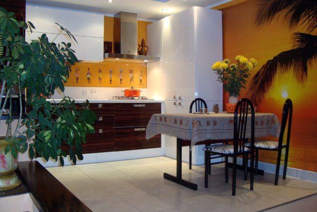 Оригинальная кухня зебрано: африканская экзотика в интерьере