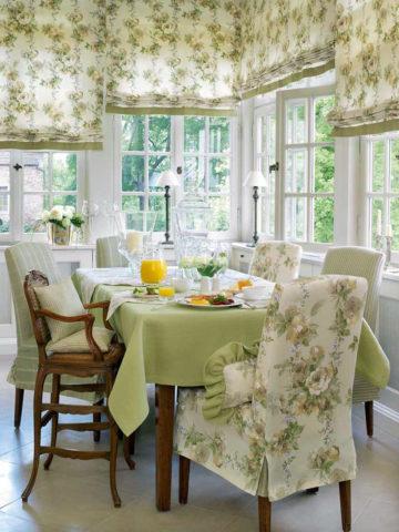 Шторы на кухню в стиле прованс: креативные идеи + правила декорирования окон