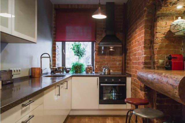 Кухня в хрущевке в стиле лофт: удачные дизайнерские решения + ключевые элементы