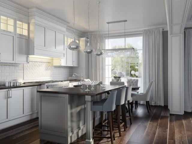– Стильный интерьер кухни в американском стиле - свобода, комфорт и практичность